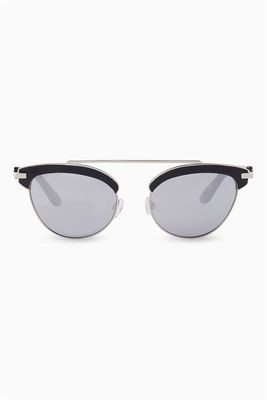Tortoiseshell mirrored lens next sunglasses