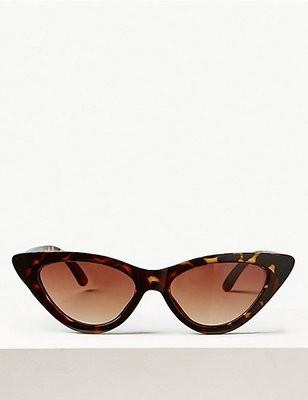 Cat eye sunglasses brown