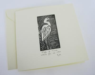 Egret Greetings Card