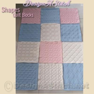 DASS001016-Shapes Quilt Block