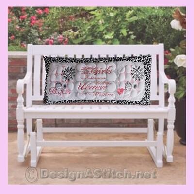 DASS001074-Cutie Girl Bench Pillow