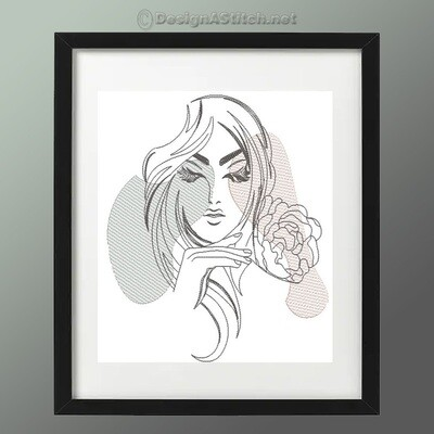 DASS00101059-3-Woman Line Art