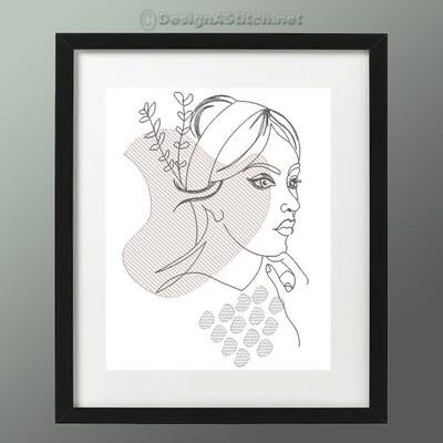 DASS00101059-4-Woman Line Art