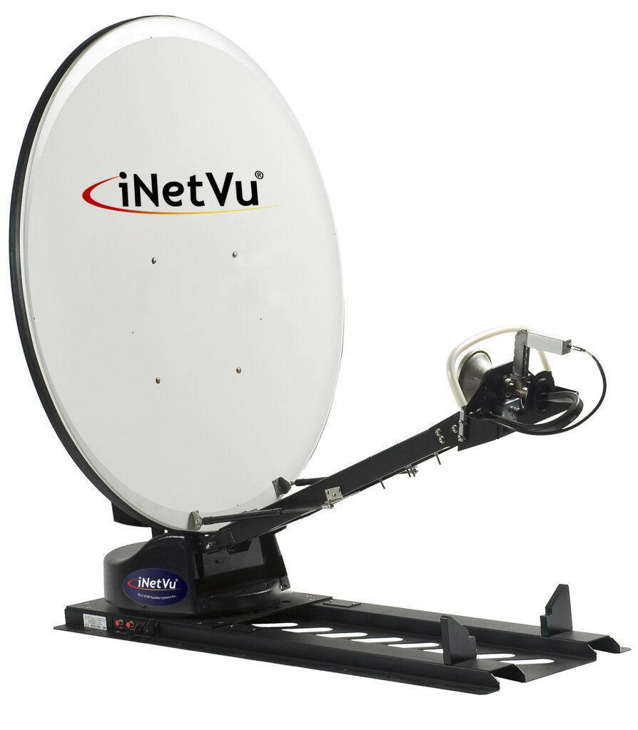 KU BAND iNetvu C-Com 1200 Drive-Away 1.2Mt Automatic SNG Uplink Antenna w/Controller