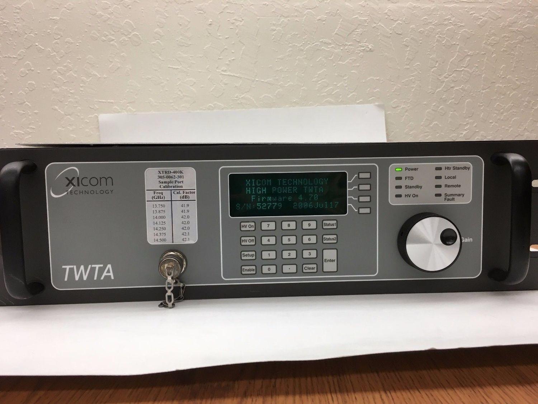 XICOM XTRD 400 HPA Extended KU Band TWTA HPA ( low usage) w/ Warranty 13.75-14.5