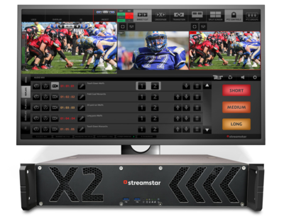 NEW STREAMSTAR 2RU RACKMOUNT LIVE PRODUCTION AND STREAMING SYSTEM WITH 2X HDMI