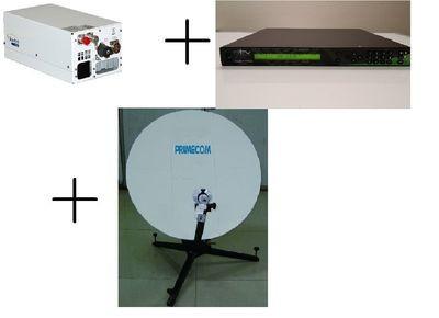 Satellite Extended KU Flyaway Uplink System CID DVB-S2 HD Encoder +HPA+ Antenna