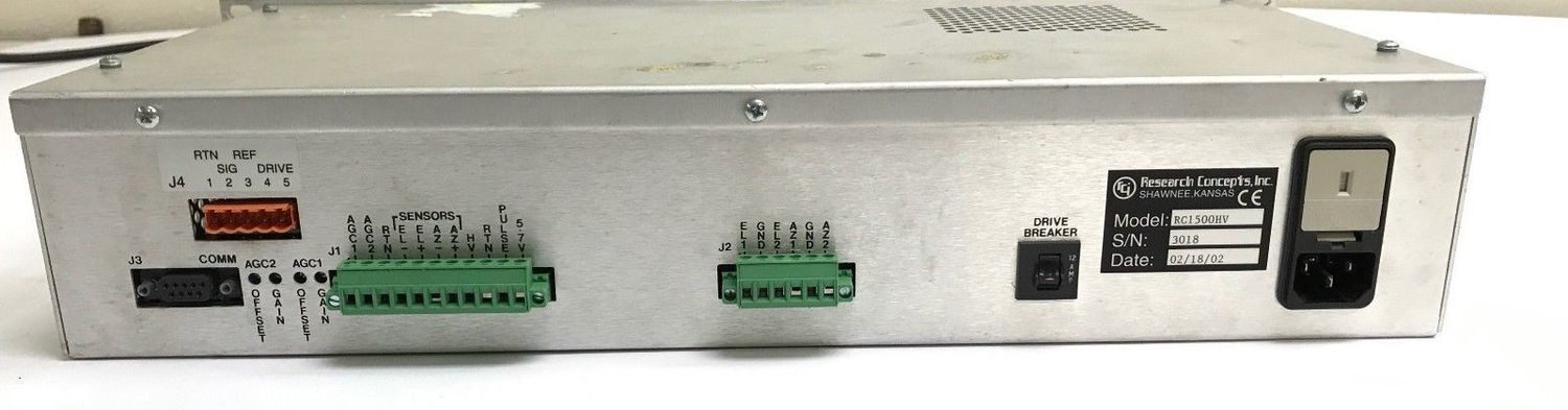 Research Concepts inc RC1500HV Satellite Antenna Controller w// Power Cable