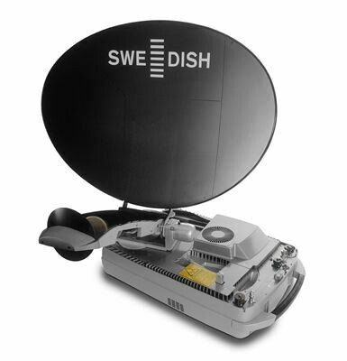 Swe-Dish IPT-i Mil Suitcase Portable Satellite Communication SatCom Dish