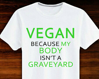T-shirt with a Vegan message
