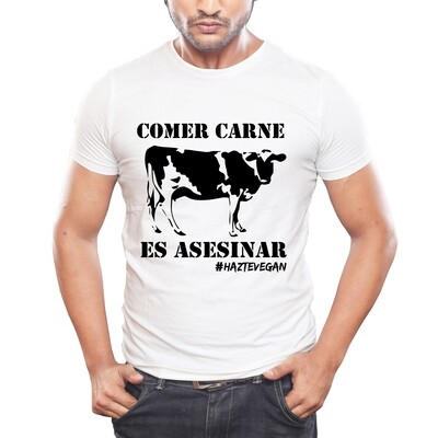 Message T in Spanish: comer carne es asesinato