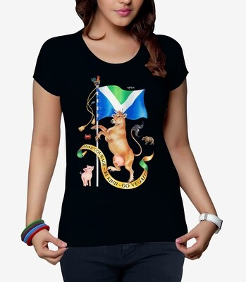 Ladies: wear a vegan flag on your T