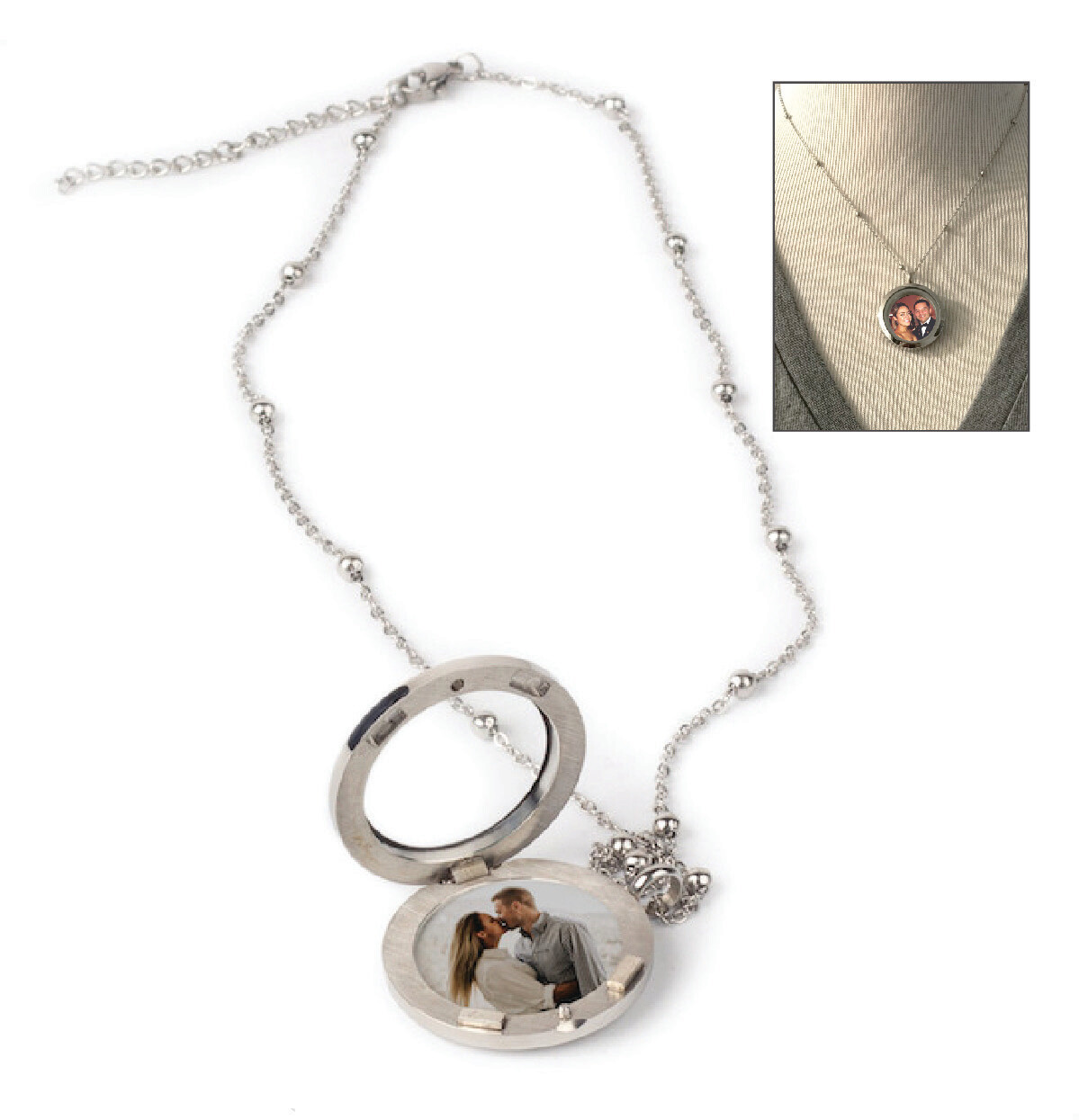 Personalized Necklace with Glass Locket