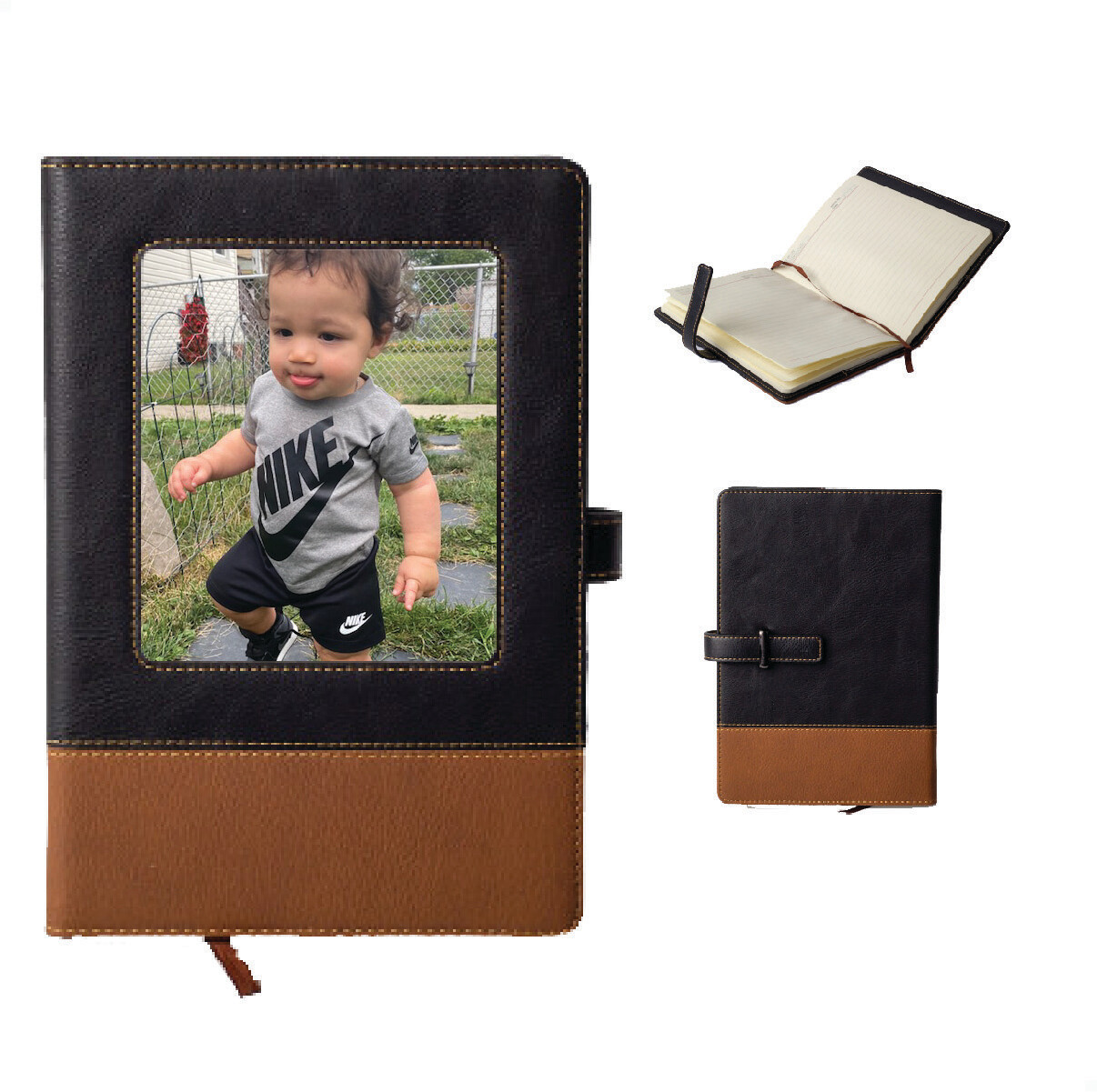 Personalized Leatherette Photo Journal