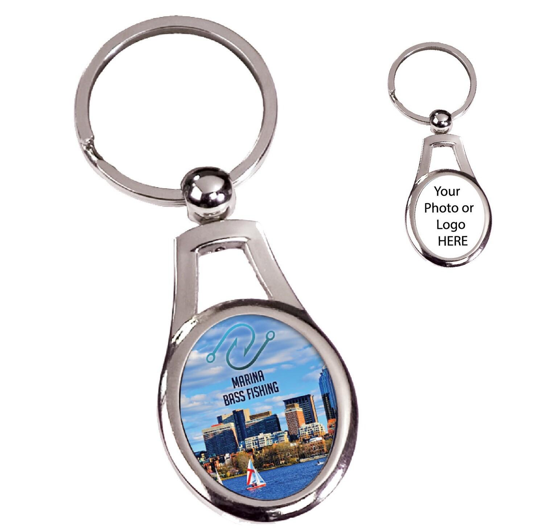 Personalized Metal Keychain (Oval)