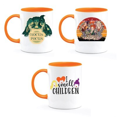 HOCUS POCUS Ceramic Mug with orange Inside / Handle
