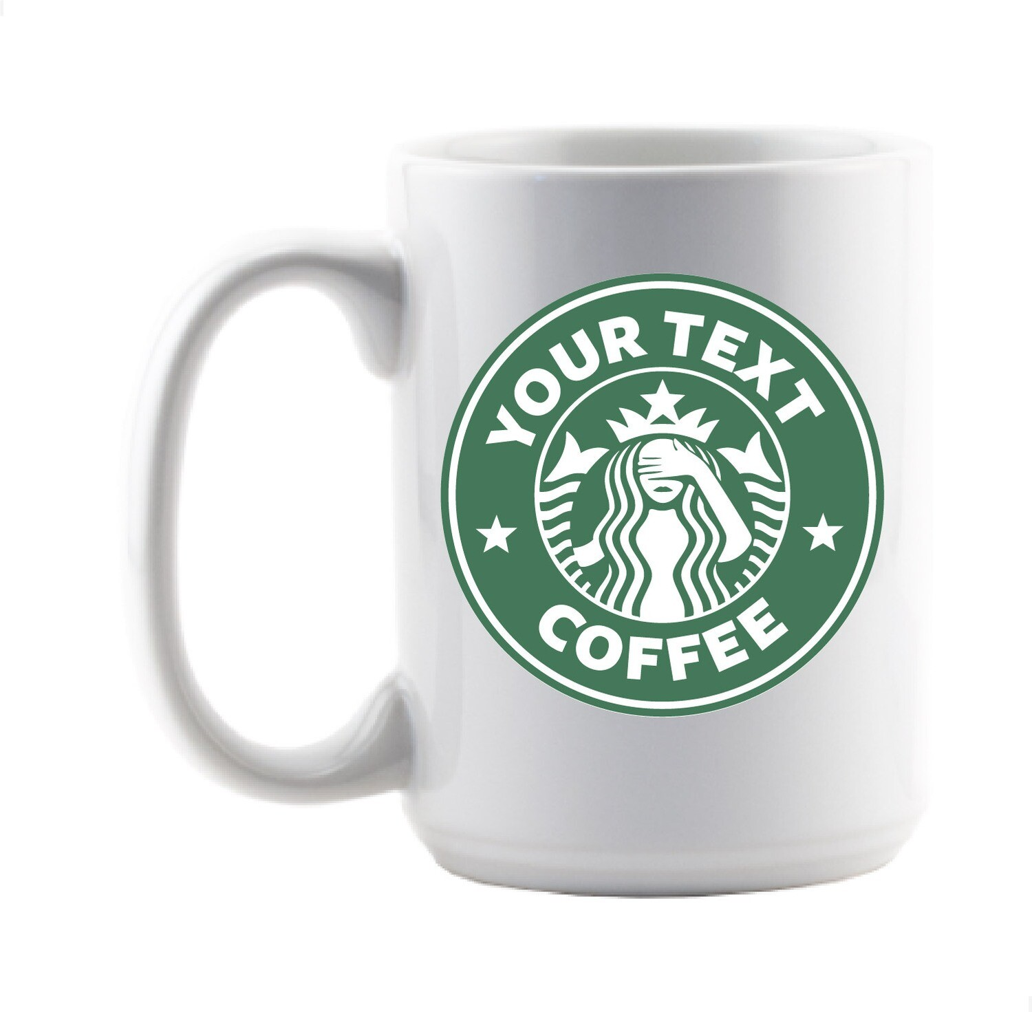 Starbucks Inspired Ceramic Mug - Personalized
