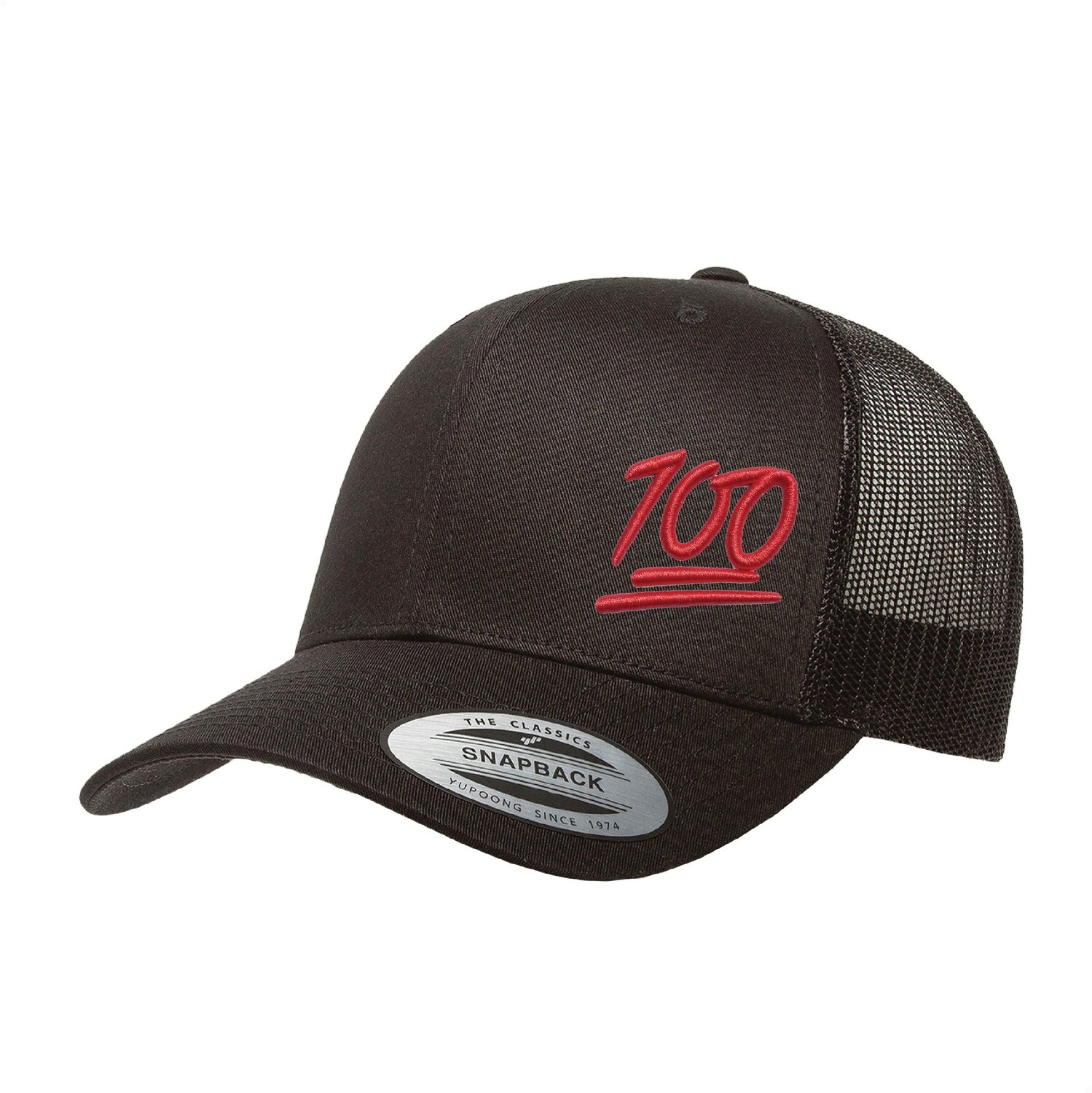 "Puff Embroidered ""100 Authentic"" Trucker Hat"