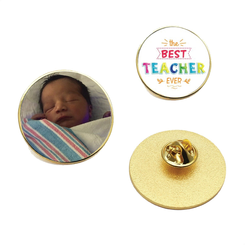 Personalized photo Metal lapel pin