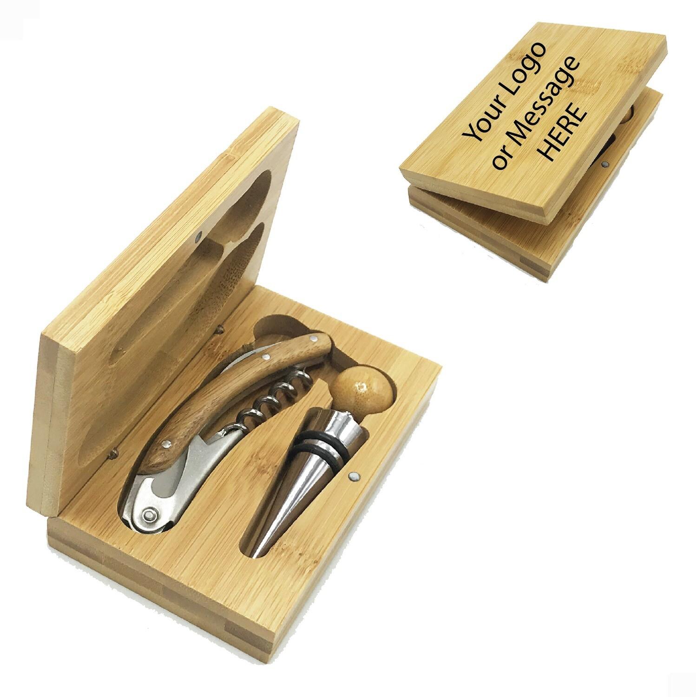 Custom Engraved 2-Piece Wine Set