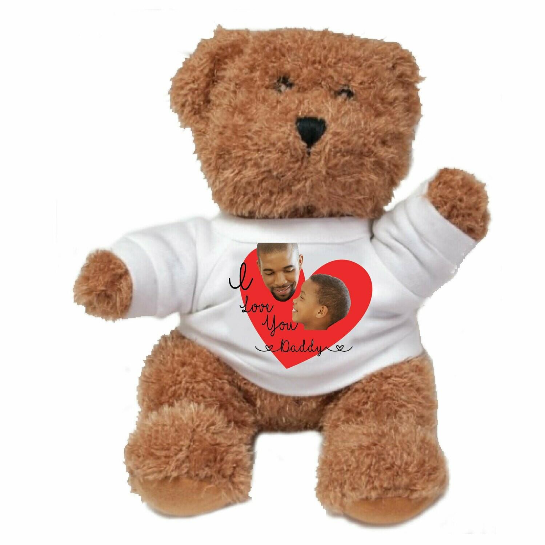 """Personalized Photo 8"""" Plush Bear"""