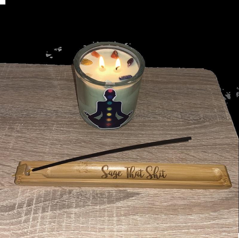 Custom Engraved Incense Stick Holder with adjustable angle