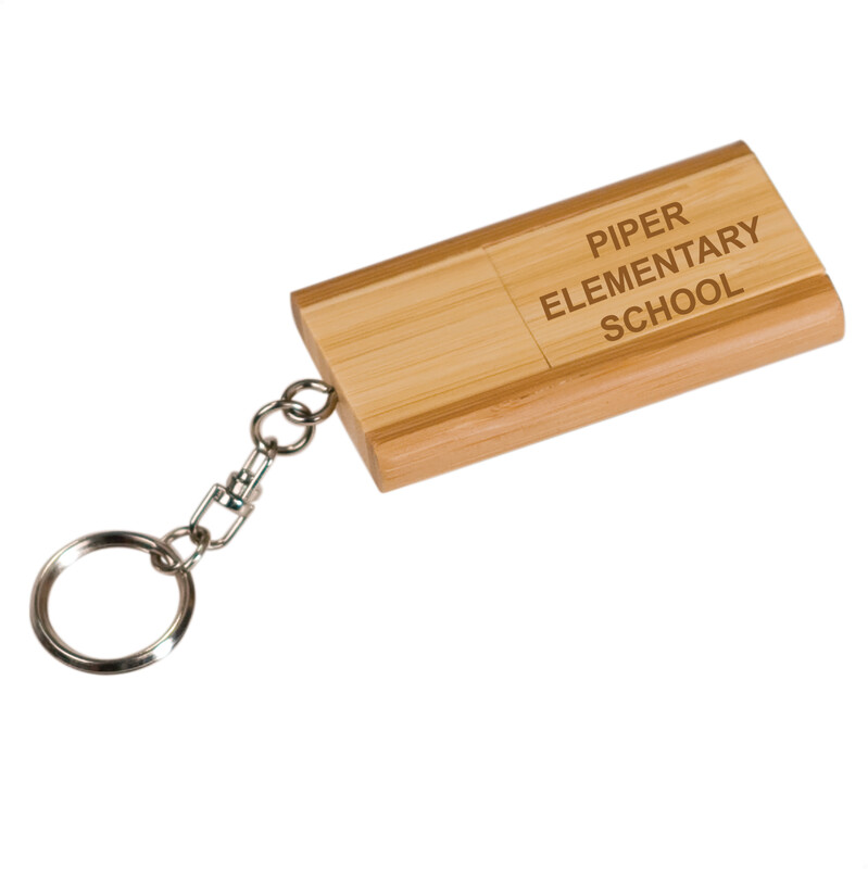 Piper Engraved Bamboo USB Keychain (8GB)
