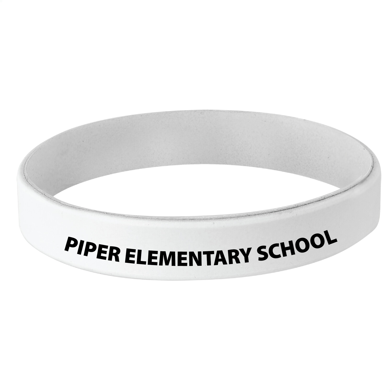 School Spirit Engraved Adult / Child Silicone Bracelets