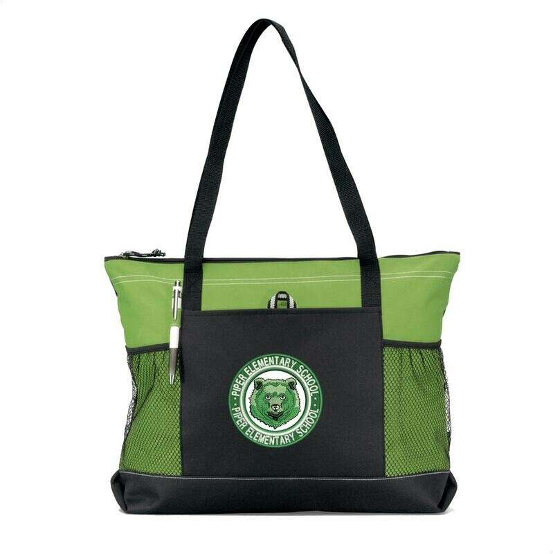 Piper Zippered Tote Bag (with Mesh Pockets)