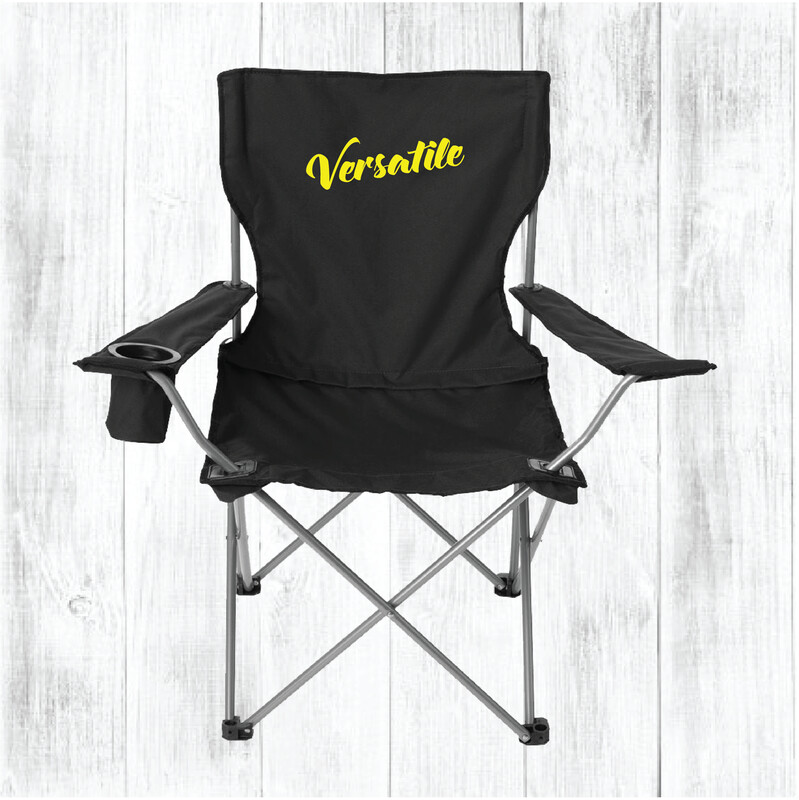 Custom Embroidered Large All-Star Chair (Black)