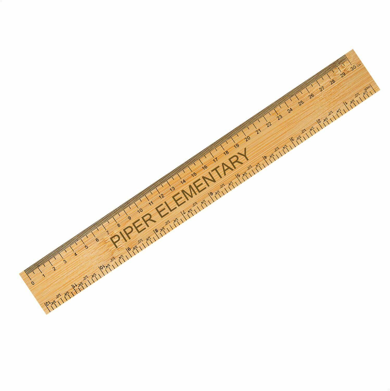 """Piper Engraved Maple Ruler (12"""")"""