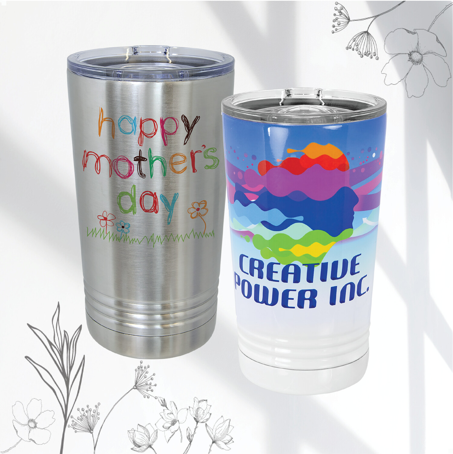 Personalized Double Wall Vacuum Insulated Polar Camel (16 oz.)