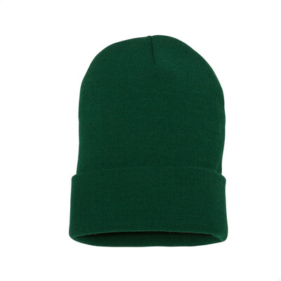 Custom Embroidered Adult Cuffed Beanie (Forest Green)
