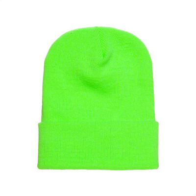 Custom Embroidered Adult Cuffed Beanie (Safety Green)