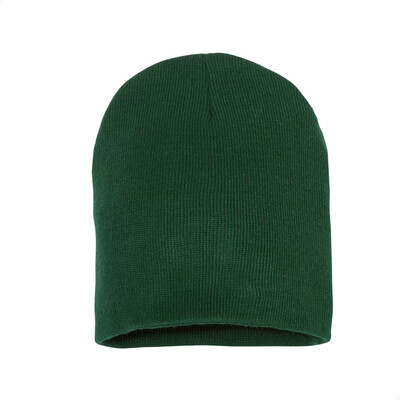 Custom Embroidered Adult Short Beanie (Forest Green)