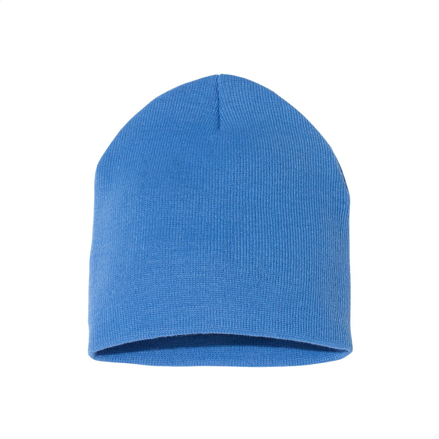 Custom Embroidered Adult Short Beanie (Carolina Blue)