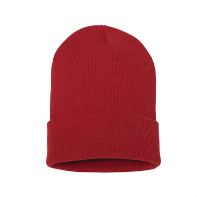 Custom Embroidered Adult Cuffed Beanie (Red)