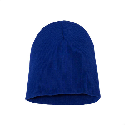 Custom Embroidered Adult Short Beanie (Royal Blue)