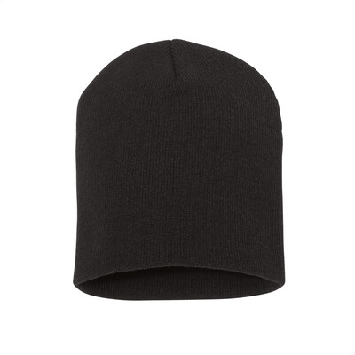 Custom Embroidered Adult Short Beanie (Black)