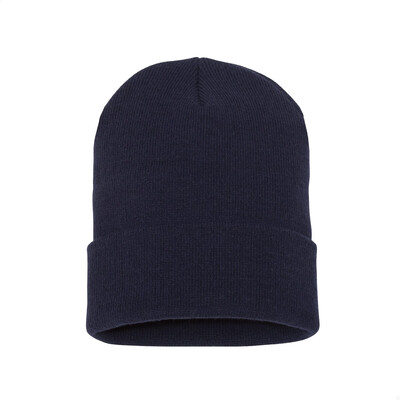 Custom Embroidered Adult Cuffed Beanie (Navy)