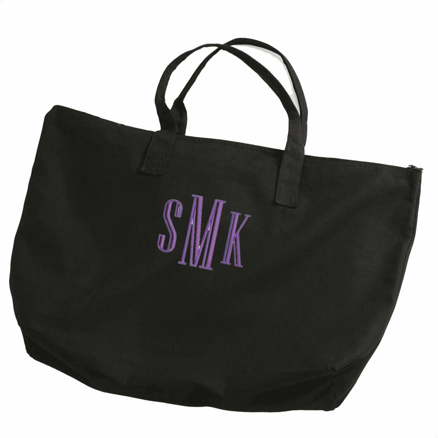 Custom Embroidered Monogrammed Large Tote Bag