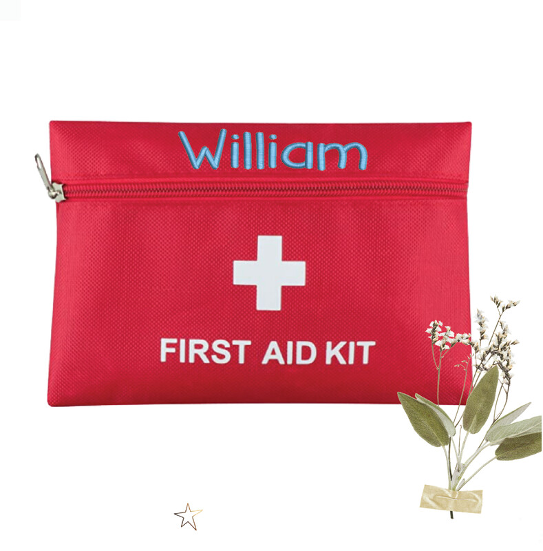 Personalized Embroidered First Aid Travel Pouch
