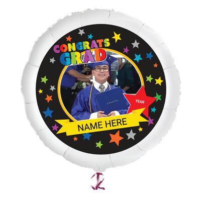 "Personalized Graduation Photo Helium Balloons (23"")"
