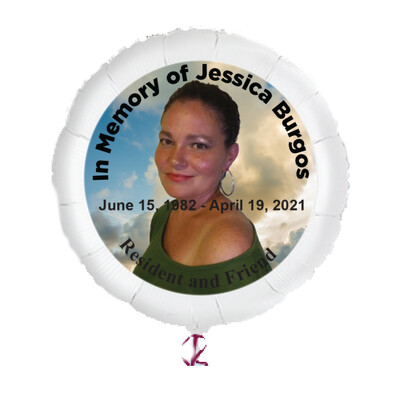 """Personalized Memorial Photo Balloons (23"""")"""