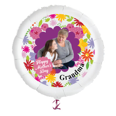 """Personalized Mother's Day Photo Helium Balloons (23"""")"""