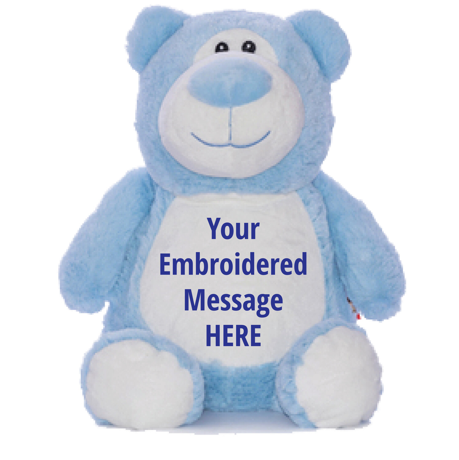 """BLUE BEAR   PERSONALIZED   EMBROIDERED CUBBY STUFFED ANIMAL   13"""""""