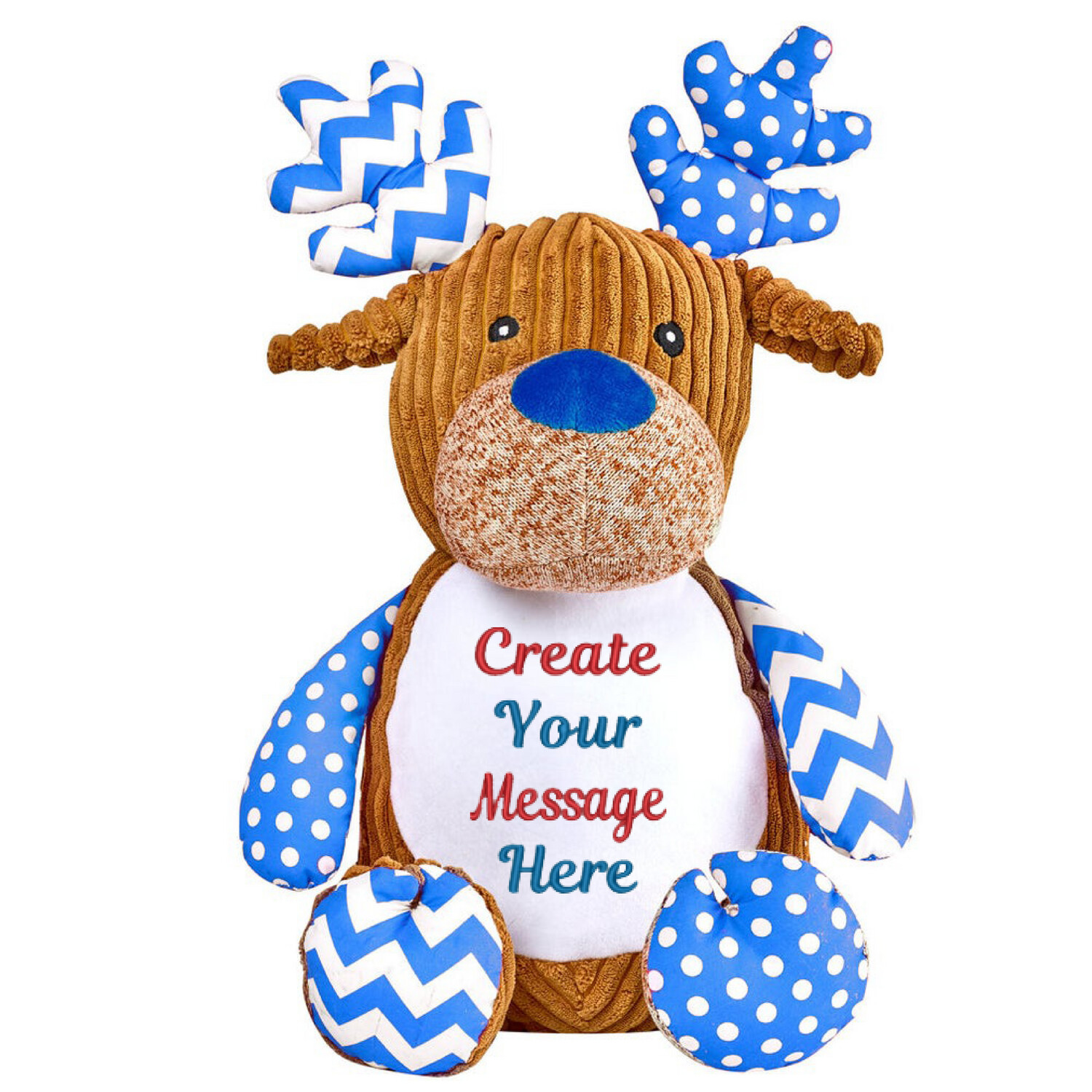 """HARLEQUIN BLUE DEER 