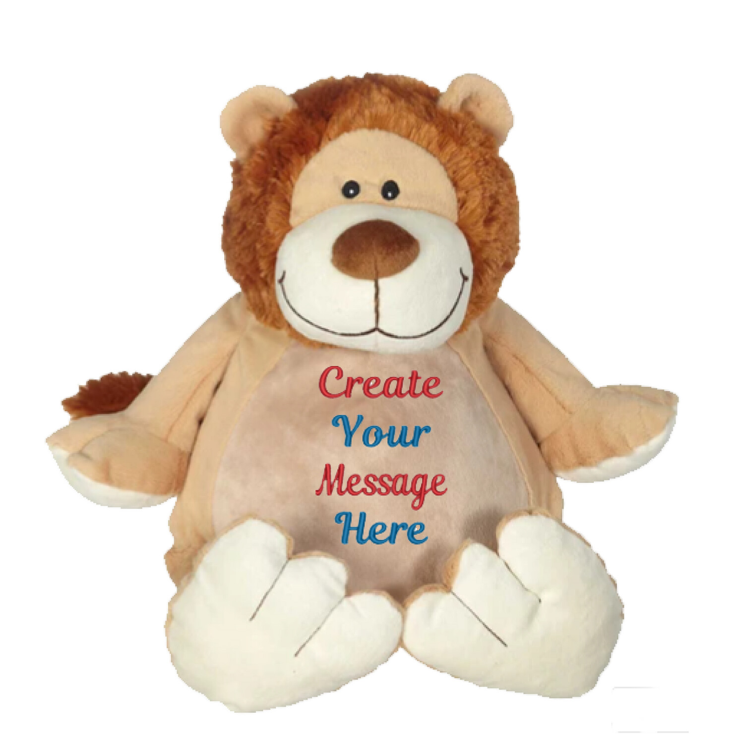 """RORY LION   PERSONALIZED   EMBROIDERED BUDDY STUFFED ANIMAL   16"""""""