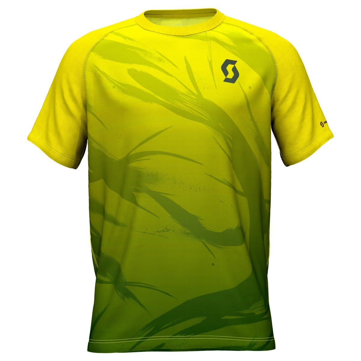 Scott t-shirt Kinabalu heren yellow/green