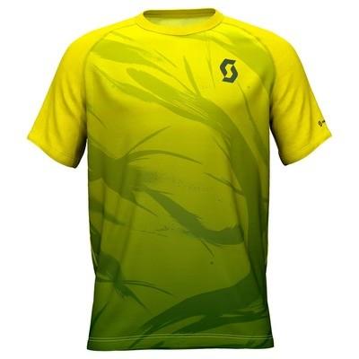 Scott t-shirt Kinabalu heren yellow/green